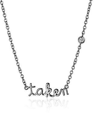 """Shy by SE """"Taken"""" Necklace with Diamond Bezel"""