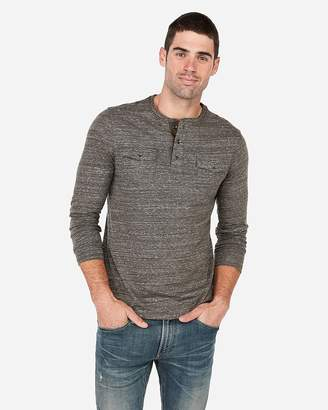 Express Two Pocket Henley Tee