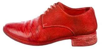 Carol Christian Poell Distressed Leather Derby Shoes