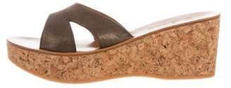 K Jacques St Tropez Kobe Wedge Sandals w/ Tags