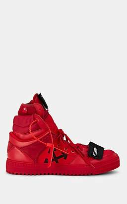 Off-White Men's Off-Court High Leather & Canvas Sneakers - Red