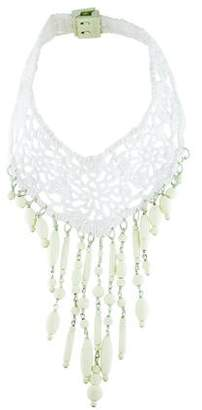 Jean Paul Gaultier Crochet and Rubber Bead Collar Necklace