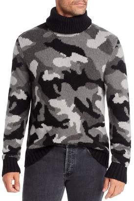 Michael Kors Camo Intarsia Turtleneck Sweater