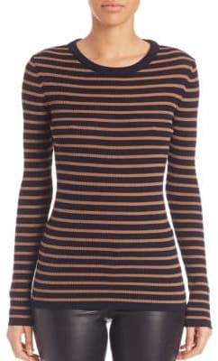 SET Striped Knit Pullover