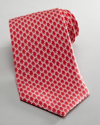 Salvatore Ferragamo Butterfly Jacquard Tie, Red