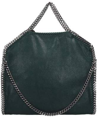 Stella McCartney Falabella Tote Fold Over Tote In Green Faux Leather