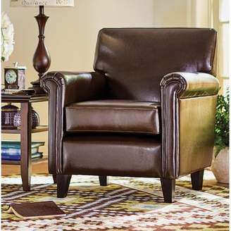 Three Posts Ober Leather Arm Chair