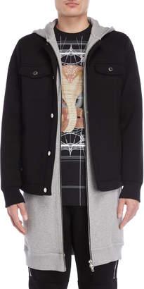 Givenchy Black Hooded Scuba Jacket