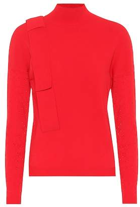 DELPOZO Perforated turtleneck sweater