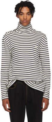 Loewe Black and White Sailor Stripe Turtleneck