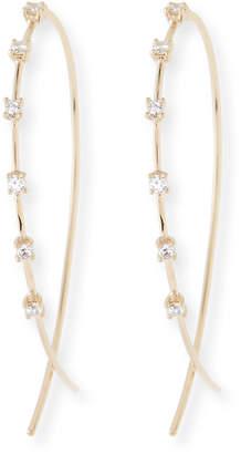 Lana Small Solo Upside Down Diamond Hoop Earrings