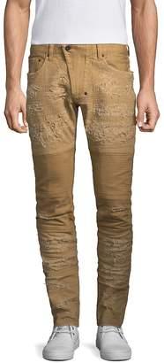 PRPS Men's Windsor Distressed Moto Skinny Fit Jeans
