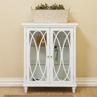 """Elegant Home Fashions Bourbon Double Door Floor 26"""" W x 32"""" H Cabinet"""