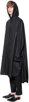 Juun.J Oversize Hooded Cotton Poplin Shirt
