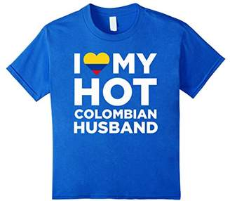I Love My Hot Colombian Husband Cute Colombia Native Relationship T-Shirt