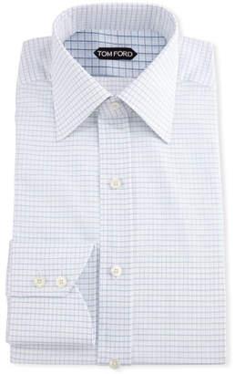 Tom Ford Men's Small Check Dress Shirt