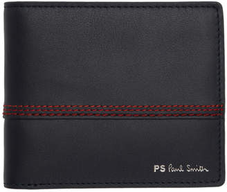 Paul Smith Navy Red Stitching Bifold Wallet