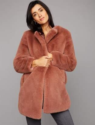 BB Dakota Faux Fur Maternity Jacket