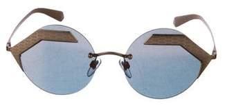 Bvlgari Serpenteyes Round Sunglasses