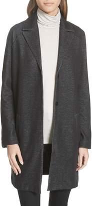 Majestic Filatures Long Chambray Knit Jacket