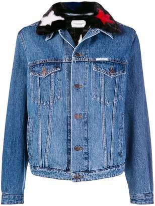 Couture Forte Dei Marmi contrast-collar denim jacket