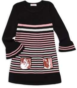 Design History Little Girl's & Girl's Striped Dress