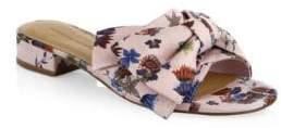 Rebecca Minkoff Calista Floral Bow Slides