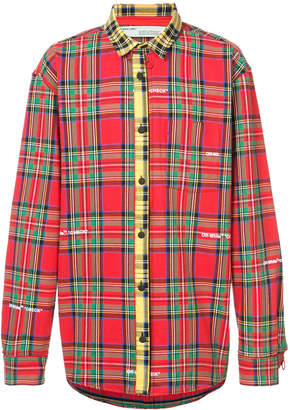 Off-White deconstructed check shirt
