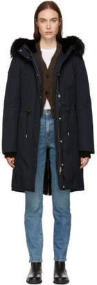 Mackage Navy and Black Enia-X Down Coat