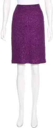 Donna Karan Wool Bouclé Skirt