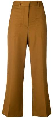 Victoria Beckham flared cropped tailored trousers