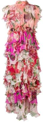Dolce & Gabbana floral print evening dress