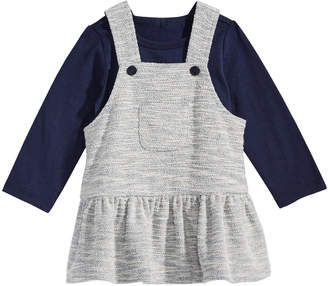 First Impressions Baby Girls 2-Pc. T-Shirt & Textured Jumper Set, Created for Macy's