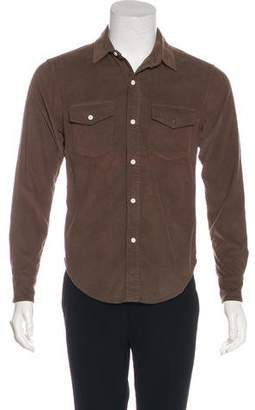 Band Of Outsiders Solid Corduroy Shirt