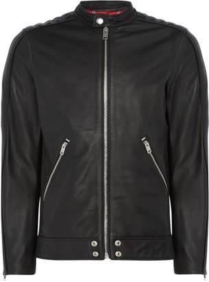 Diesel Men's Leather Biker Jacket