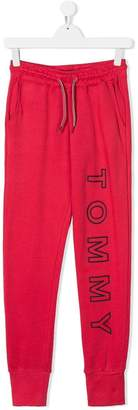 Tommy Hilfiger Junior TEEN logo print track pants