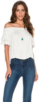Free People Santorini Off The Shoulder Top $68 thestylecure.com