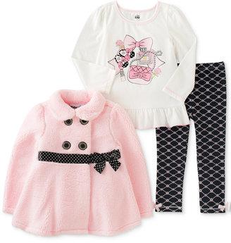Kids Headquarters 3-Pc. Jacket, T-Shirt & Leggings Set, Baby Girls (0-24 months) $50 thestylecure.com