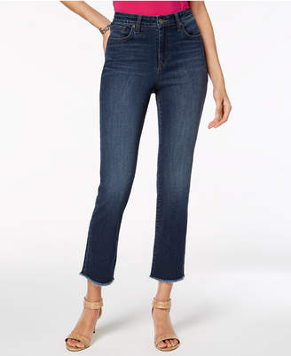 Style&Co. Style & Co Cropped High-Rise Straight-Leg Jeans, Created for Macy's