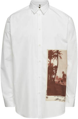 Oamc Postcard Cotton Shirt with Printed Insert