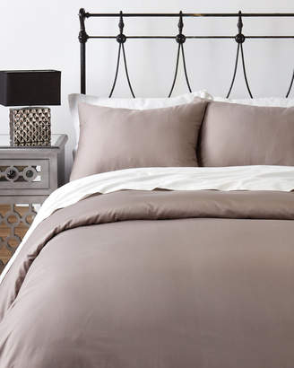 Wamsutta Mills Grey 400-Thread Count Twin Duvet Cover Set