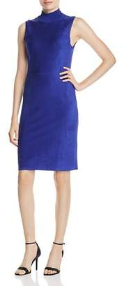 Elie Tahari Londynn Faux-Suede Sheath Dress