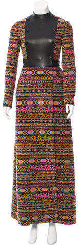 ValentinoValentino Double-Breasted Tapestry Coat w/ Tags