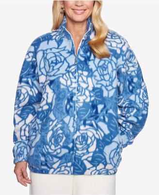 Alfred Dunner Printed Fleece Jacket