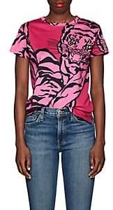 Valentino Women's Tiger-Print Cotton T-Shirt - Pink