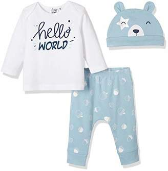 Silly Apples Baby Toddler Boys or Girls Fall Outfit 3-Piece Teddy Bear T-Shirt