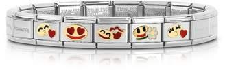 Nomination Stainless Steel Women's Bracelet w/Golden Emoticons