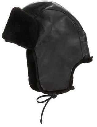 Prada Mink & Leather Trapper Hat