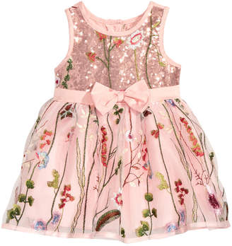 Nanette Lepore Embroidered Mesh Dress, Baby Girls
