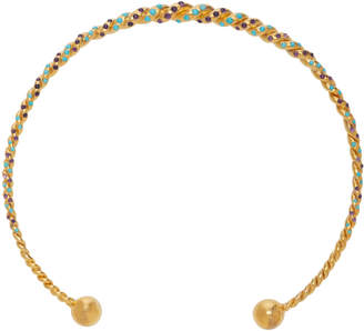 Sylvie Corbelin Fascination 18K Gold Amethyst and Turquoise Necklace